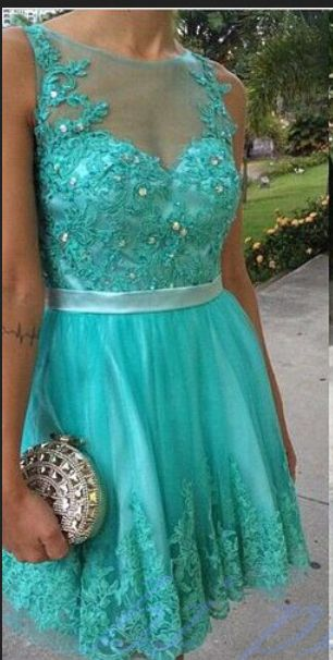 Turquoise Homecoming Dress With Lace Short Prom Gown Backless Homecoming Gowns Open Backs Homecoming Dress Cute Homecoming Dresses