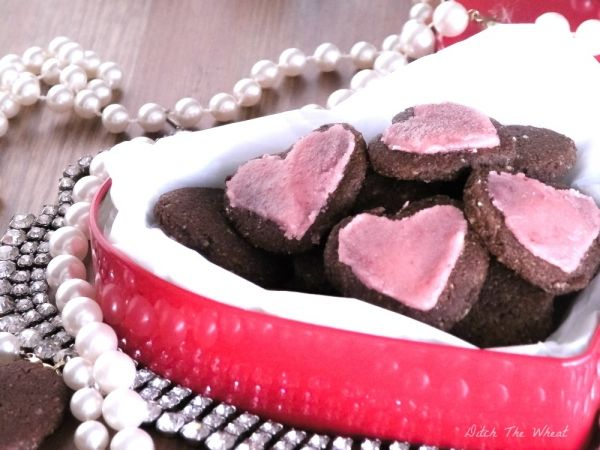 Cinnamon Heart Paleo Cookies with Strawberry Icing