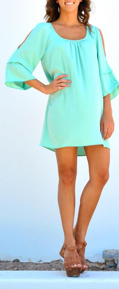 Love the color: Summer Dresses, Fashion, Mint Green, Style, Clothing, Cute Dresses, Outfit, The Dresses, Summer Colors