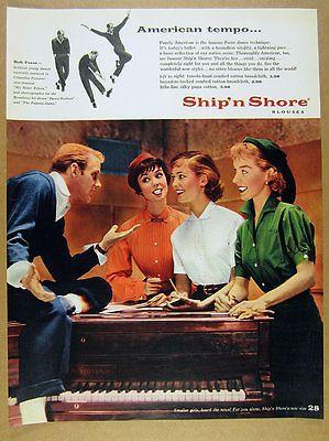 1955-Bob-Fosse-photo-Ship-039-n-Shore-Blouses-50s-fashion-vintage-print-Ad