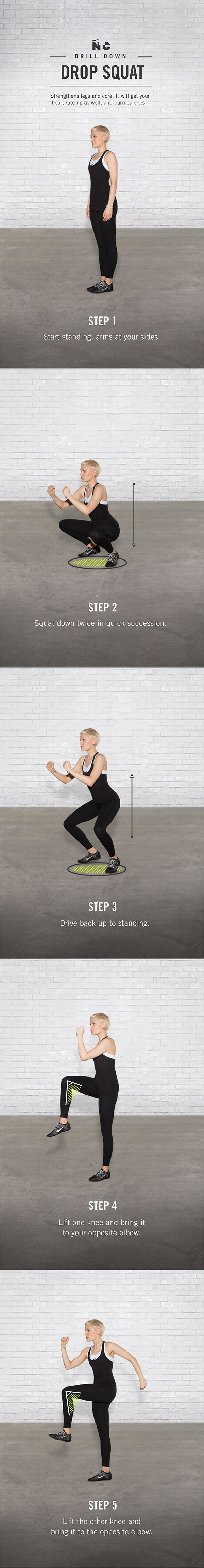 Drop Squat #nike #train #ntc #drills