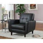 Coaster Furniture - Black Vinyl Accent Chair - 900204  SPECIAL PRICE: $304.00