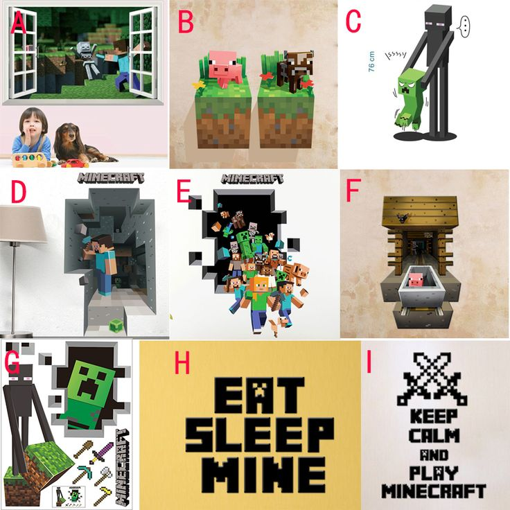 2015 Newest Minecraft Wall Stickers Wallpaper Kids Room Decal Minecraft Home Decoration Free Shipping -in Wall Stickers from Home & Garden on Aliexpress.com | Alibaba Group