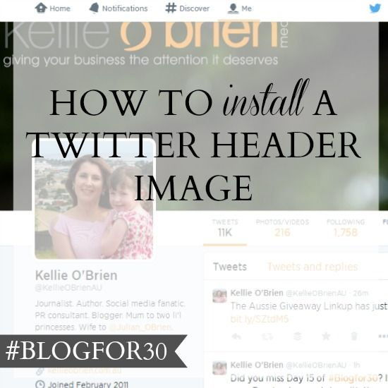 How to install a Twitter header image