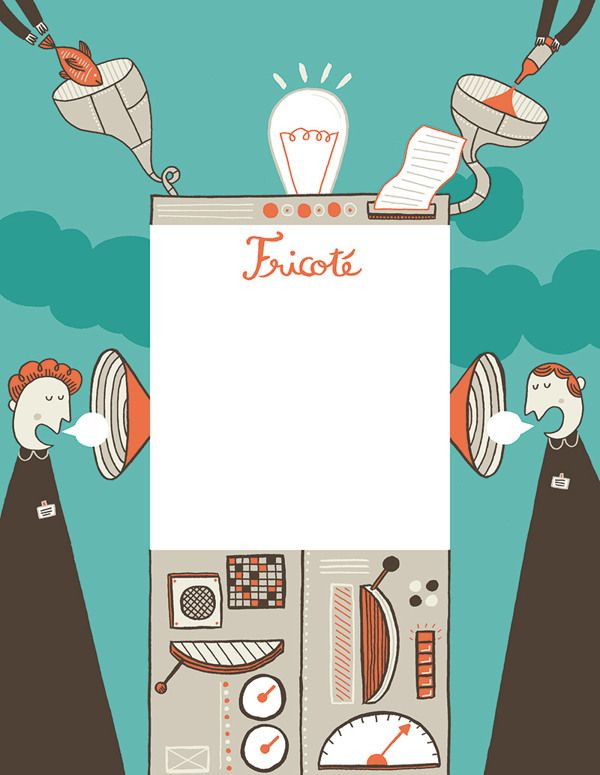 "An illustration for the french culinary magazine ""Fricote"" (http://www.fricote.fr)."
