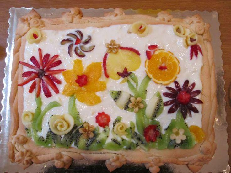 La sera prima: <<Ah, Alice, te che sei brava con le #torte, la fai te la #torta per domani?!>>. Panico e ora?! Bisogna sempre avere in casa farina, #zucchero e lievito! Poi il #burro c'era, ma l'ingrediente più importante in questo caso è stato il fattore C: avere la #frutta in casa! #Cakedesign senza #pastadizucchero