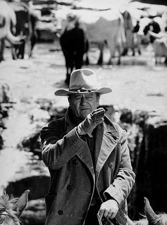 The Cowboys 1972 - John Wayne As Cattle Rancher Wil Anderson On Location In New Mexico