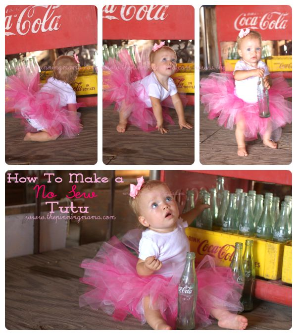 How to Make an Easy No Sew Tutu for Little Girls | The Pinning Mama | With handy sizing guide from Newborn to 5 years old.