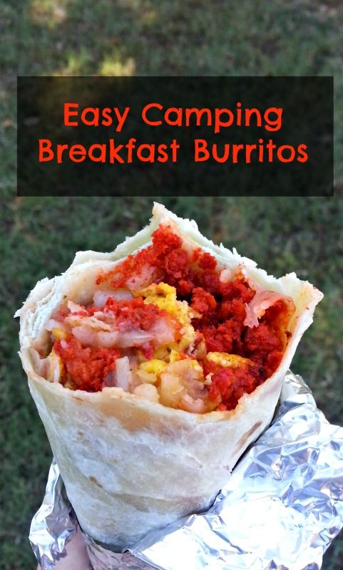 Easy Camping Breakfast Burritos - Perfect for your next campout or indoor sleepover. They're made ahead and heated just before breakfast #camping #food