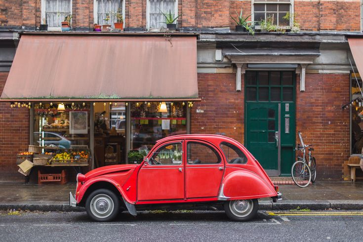 Red vintage VW beetle alert! I spent a day in London's Spitalfields amongst all the moody architecture and moody tones.