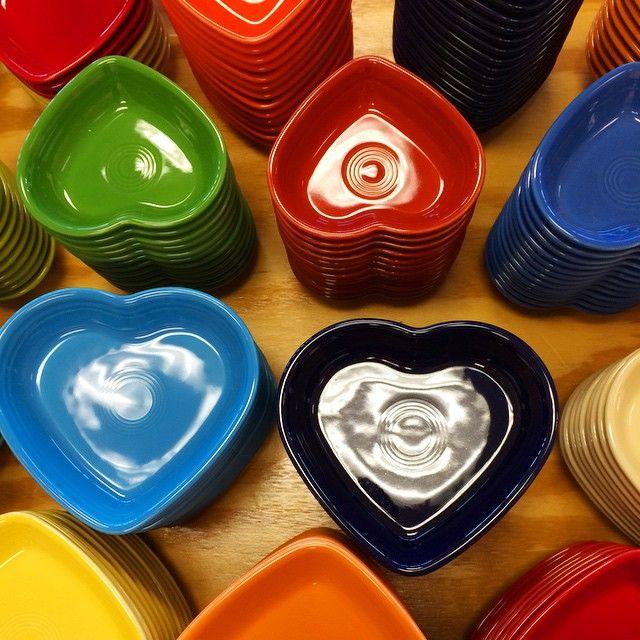 Fiesta® Heart Shaped Bowls #fiestaware ❤️ | Everything Fiesta Instagram