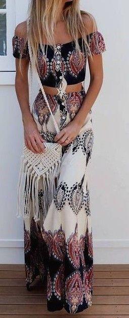 #summer #outfits / boho