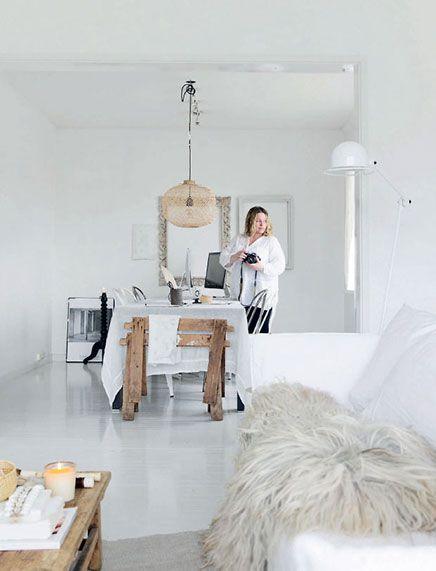 Witte huis inrichting van Noorse interieurstylist   Inrichting-huis.com