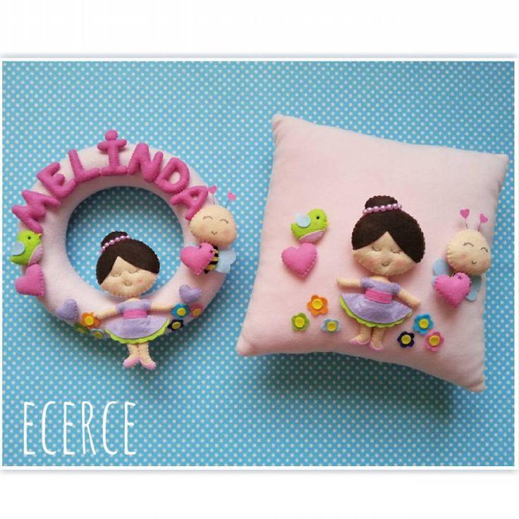 Melinda'nın balerin kapı süsü ve yastığı❤  #keçe #felt #fieltro #feltro #craft #feltcraft #baby #hediye #babyshower #elyapımı #handmade #kapısüsü #doortrim #keçekapısüsü #bebekodası #takıyastığı #pillow #yastık #kırlent #polaryastık #ballet #feltballerina #babygirl #balerin #ballerina #doğumhediyelikleri