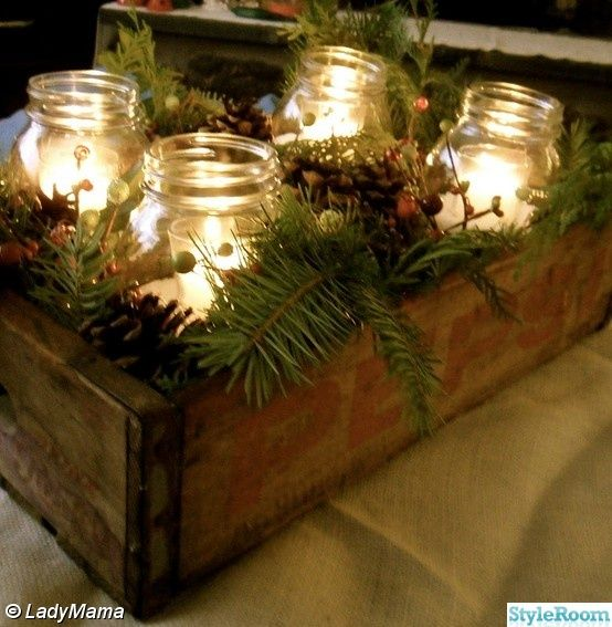 different kind of advent wreath… great for a coffee table