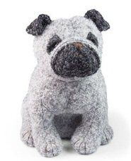 Puggles The Pug Doorstop By Dora Designs http://www.abentleycushions.co.uk/detail.asp?pID=2210