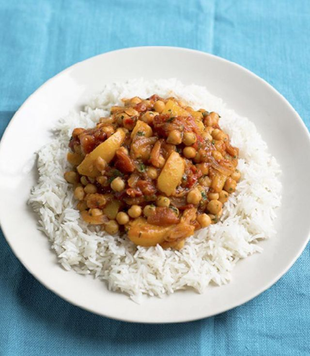 Peach and chickpea curry - budget recipes