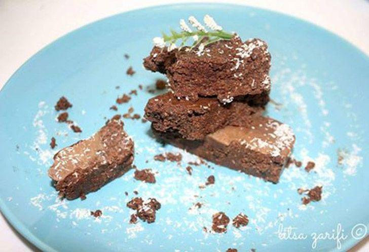 Κορμός καρύδας με σοκολάτα