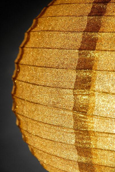 Gold Glitter Round Paper Lanterns