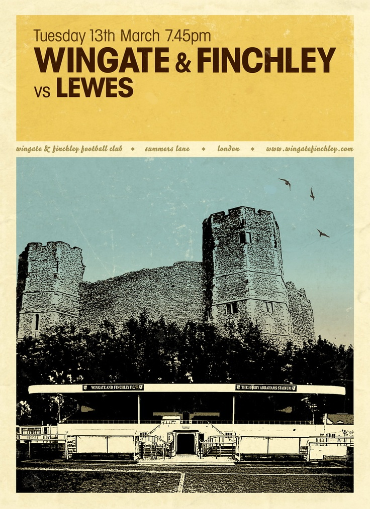 Match poster for Wingate & Finchley v Lewes - Season 2011/12