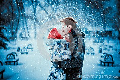 Happy Young Couple In Winter Park - Download From Over 55 Million High Quality Stock Photos, Images, Vectors. Sign up for FREE today. Image: 37188623