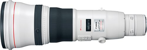 Canon - EF 800mm f/5.6L IS USM Super-Telephoto Lens for Canon EOS Cameras - White, 2746B002