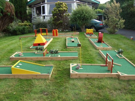 Mini Golf at Home | Diy yard games, Backyard putting green ...