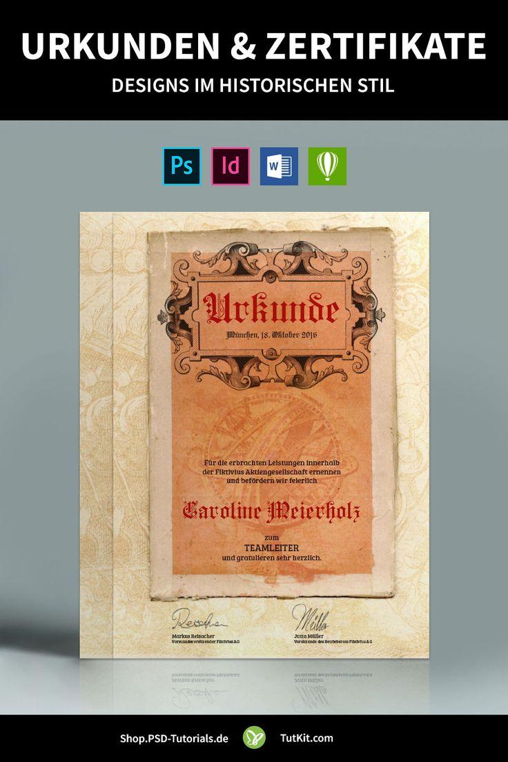 Fertige Design Vorlagen Indesign Templates Print Layouts Zertifikat Design Indesign Vorlagen Urkunde