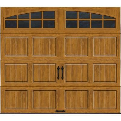 Clopay Gallery Collection 8 Ft. X 7 Ft. 18.4 R Value Intellicore Insulated  Ultra Grain Medium Garage Door With Arch Window