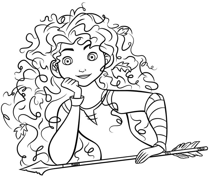 38 Best Images About Coloring Pages Brave On Pinterest Disney Princess Coloring Pages Brave