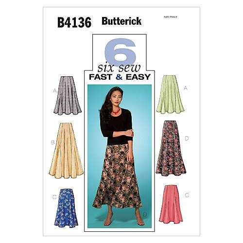 Butterick Misses Skirt-B4136