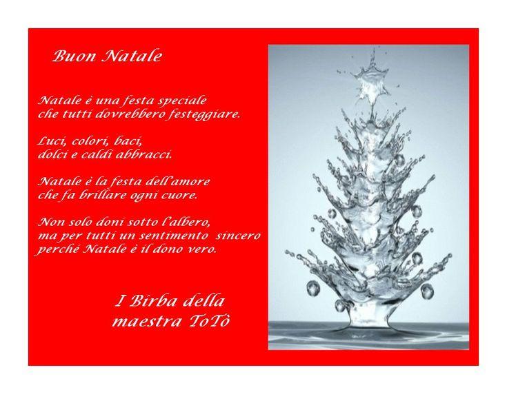 Con la filastrocca inventata in classe dai miei Birba vi auguro Buon Natale