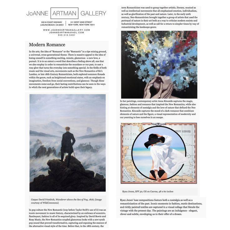 Modern Romance - Anna Kincaide and Ryan Jones at Joanne Artman Gallery www.joanneartmangallery.com