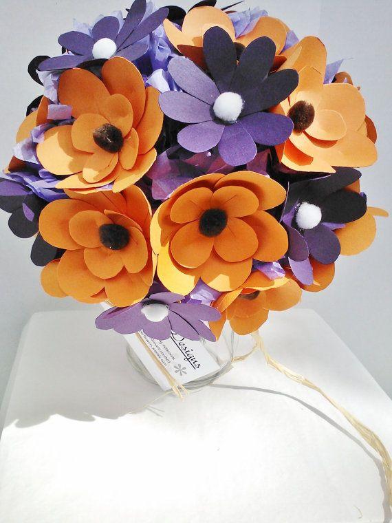 paper flower bouquet halloween decoration