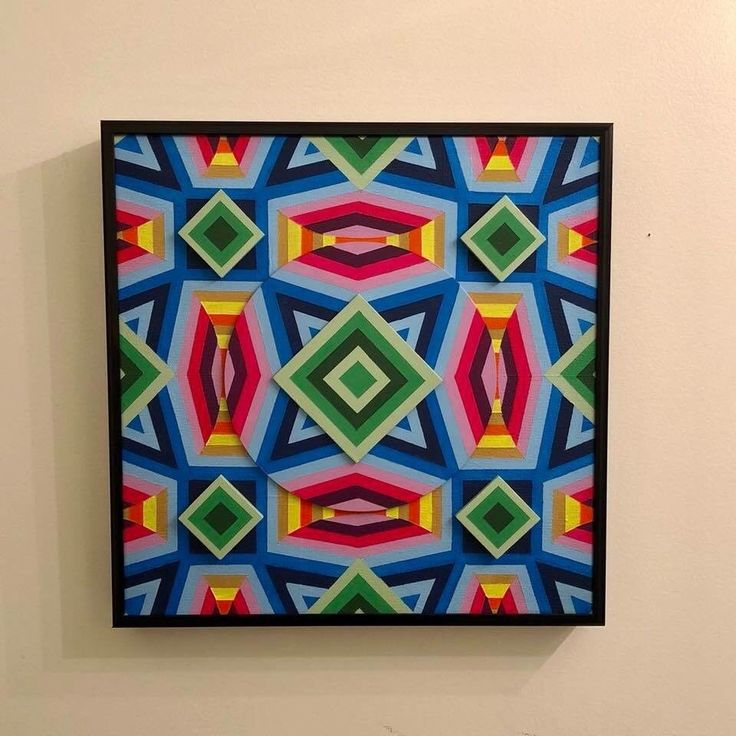 EMAYZING 3D Op Art Painting, Psychadelic Art, EDM Art, Op Art  | eBay