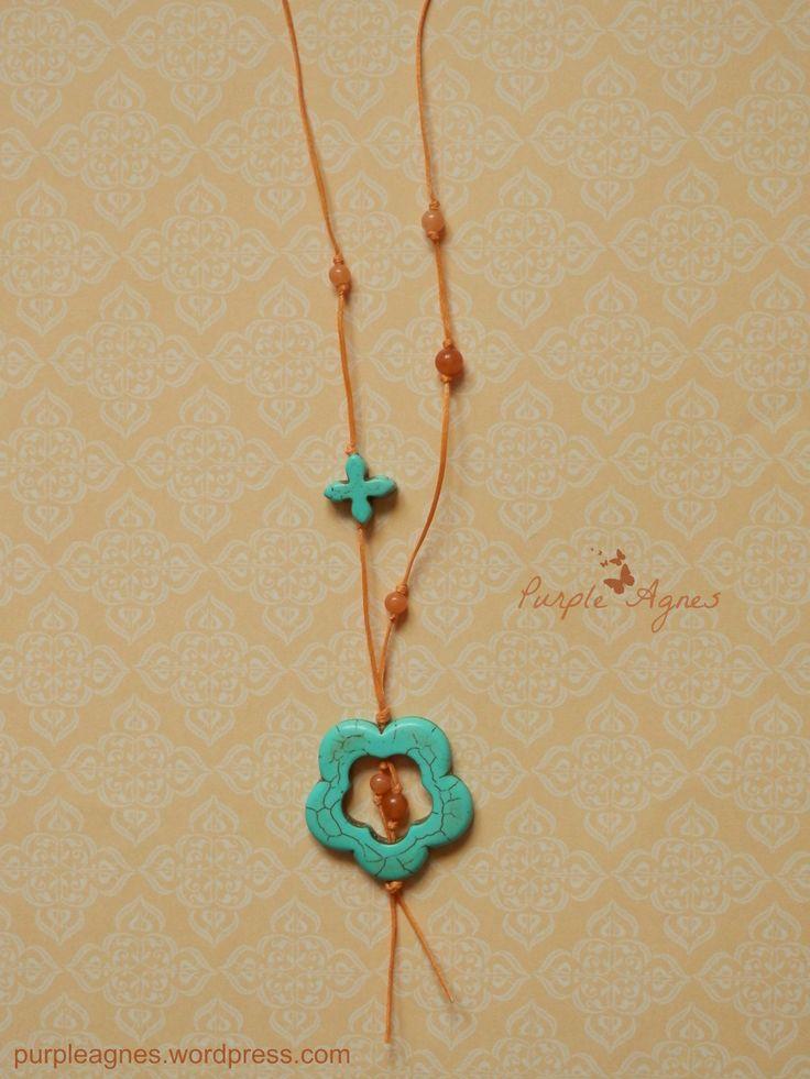 Bohemian Jewelry, Flower Pendant