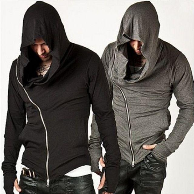 Big Discount $13.29, Buy 2017 Brand Design Men Hoodies Hop Streetwear Zipper Fashion Sweatshirt Men's Tracksuit Men Assassins Creed Hoodies