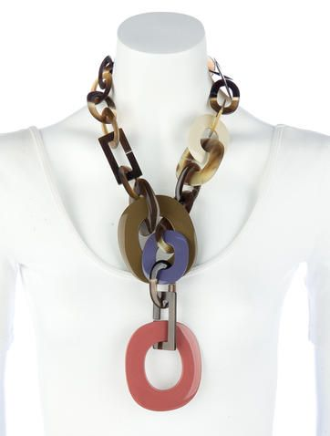 Hermès Duncan Horn Necklace