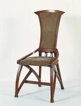 art nouveau style chair 1898 designed by henry van de velde 1863 1957 belgium 19th century