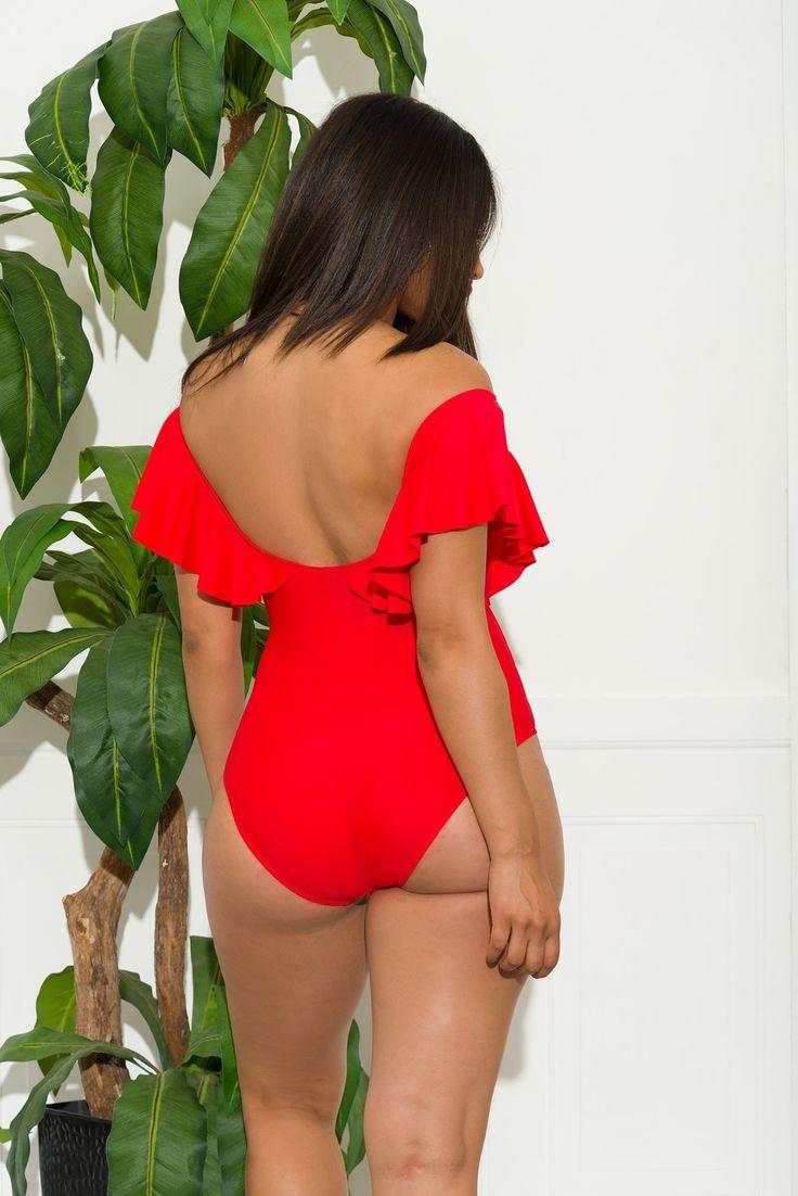 Boracay One Piece Swimsuit Red