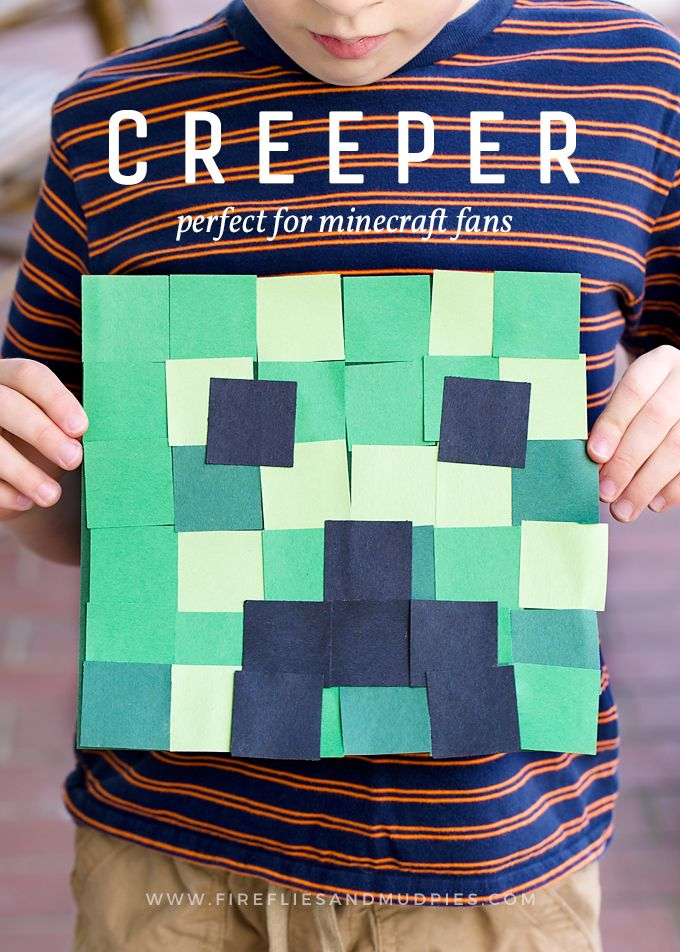 Minecraft fans big and small will go crazy for this simple Creeper Craft!
