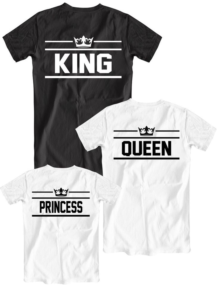 Matching family set KING, QUEEN and PRINCESS