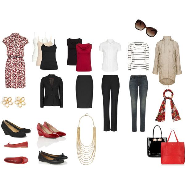 """""""Capsule Wardrobe Overhaul for 1K"""" by thimbalina on Polyvore featuring Long Tall Sally"""