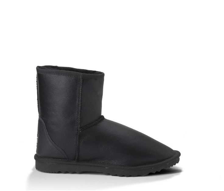 Black Napa Water Resistant Ultra Short UGG Boots, Made in Australia. #uggboots #australianmade #sheepskin #originaluggboots #black