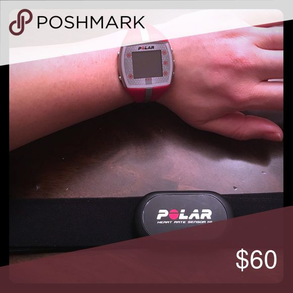 Polar Women's Fitness Watch & HR Band Great condition! Polar Fitness Watch & Heart Rate sensor band. For all types of cardio workouts. Used only a few times. Battery needs replacement in watch. Reasonable offers welcome. Polar Accessories Watches