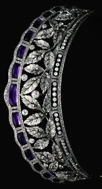 Antique Tiara of the Fouche D'Otrante family (amethysts, diamonds). #AmethystTiara