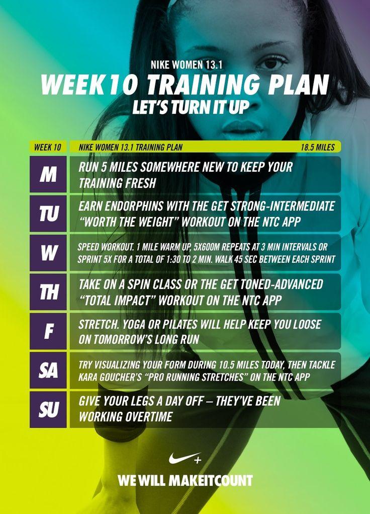 Week 10 - Nike Women 13.1 Training Plan