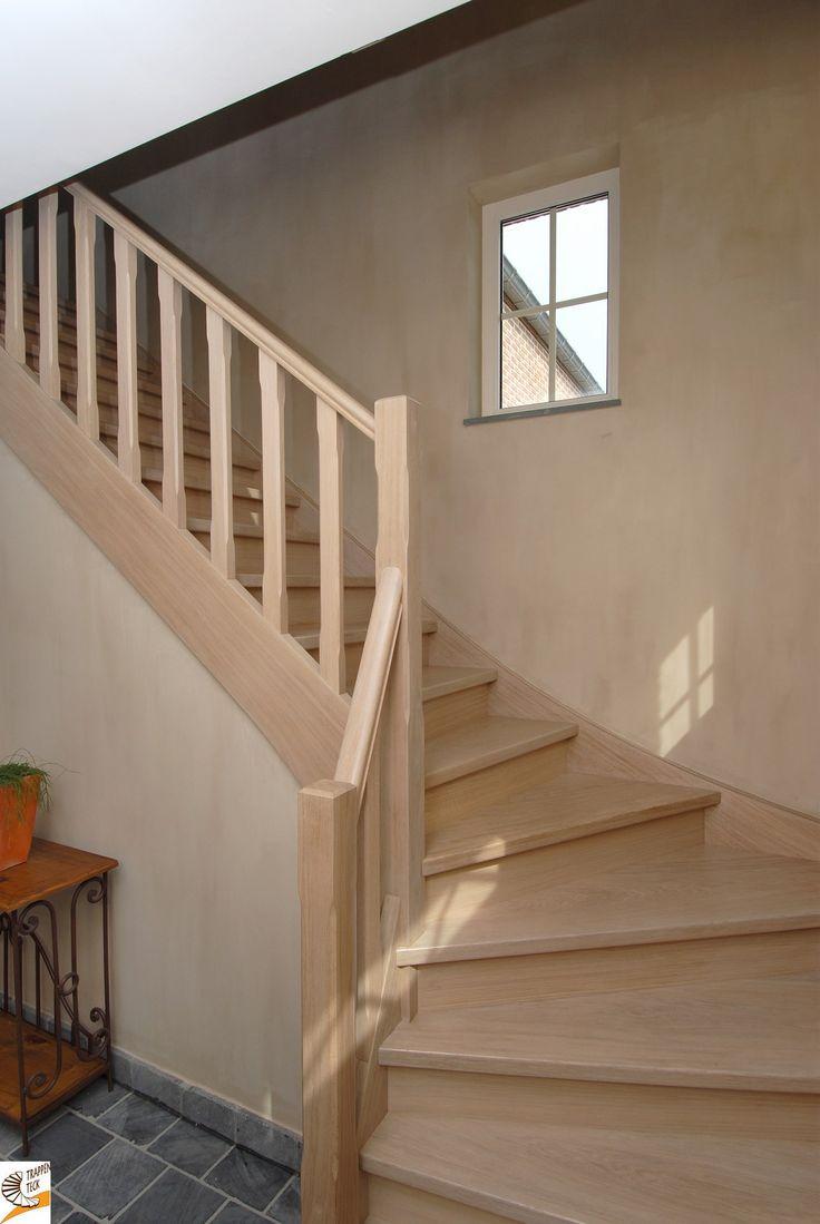 Meer dan 1000 idee n over geschilderde houten trap op pinterest trappen trap makeover en - Houten trap monteer ...