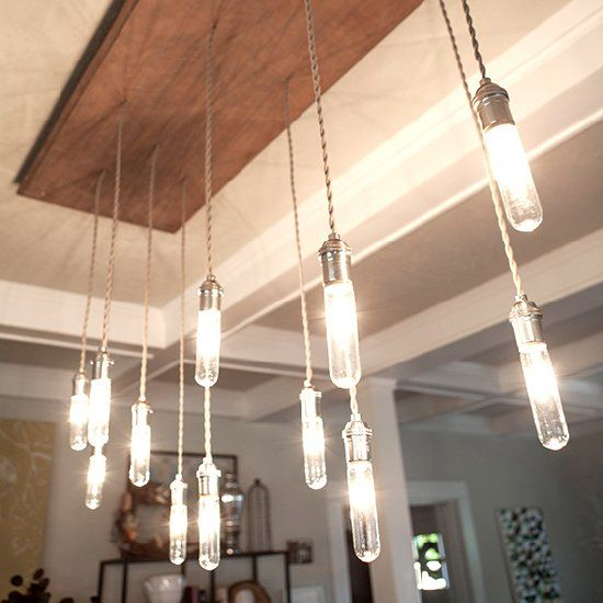 Check out my video on how I made this and a smaller version of an industrial Edison style chandelier!