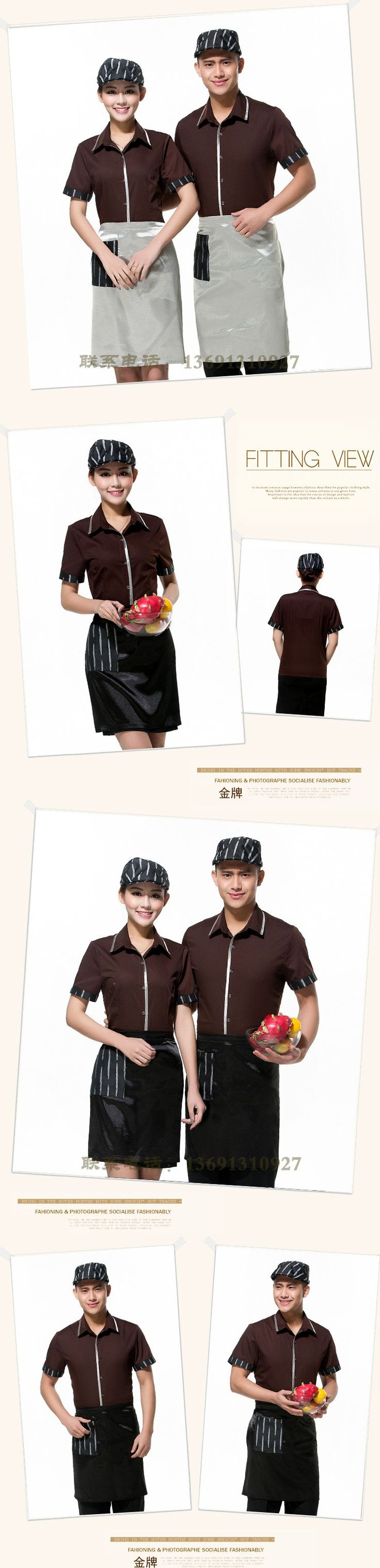Aliexpress.com : Buy Fashion hotel cafeteria restaurant supermarket shopping guider uniform waiter workwear free apron from Reliable apron fashion suppliers on Raylayland-Fitted Workwear Store